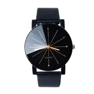 Other - Casual Black and Gold Time Piece